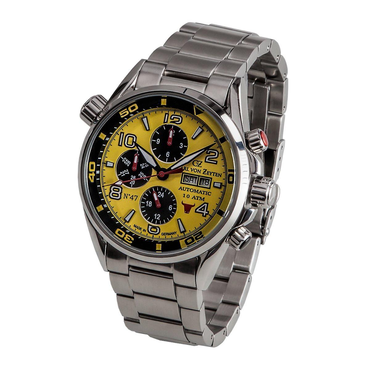 Zeyten Kijken Van Horloge Carl Cvz0047ylmb Automatische Mannen Nr47 ZlwOPXukiT