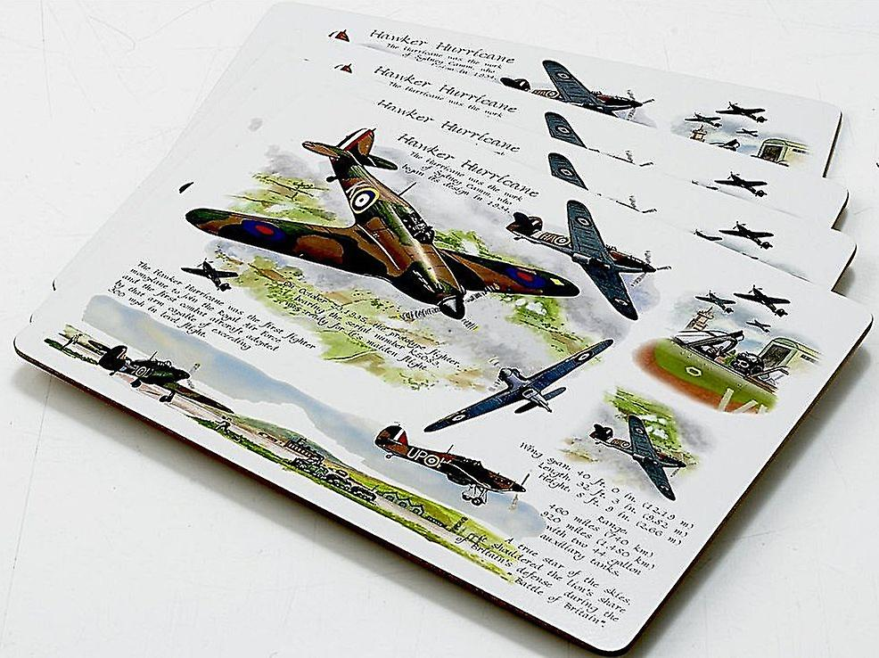 Hawker Hurricane Set Of 4 Cork Backed Table Placemats Lsn