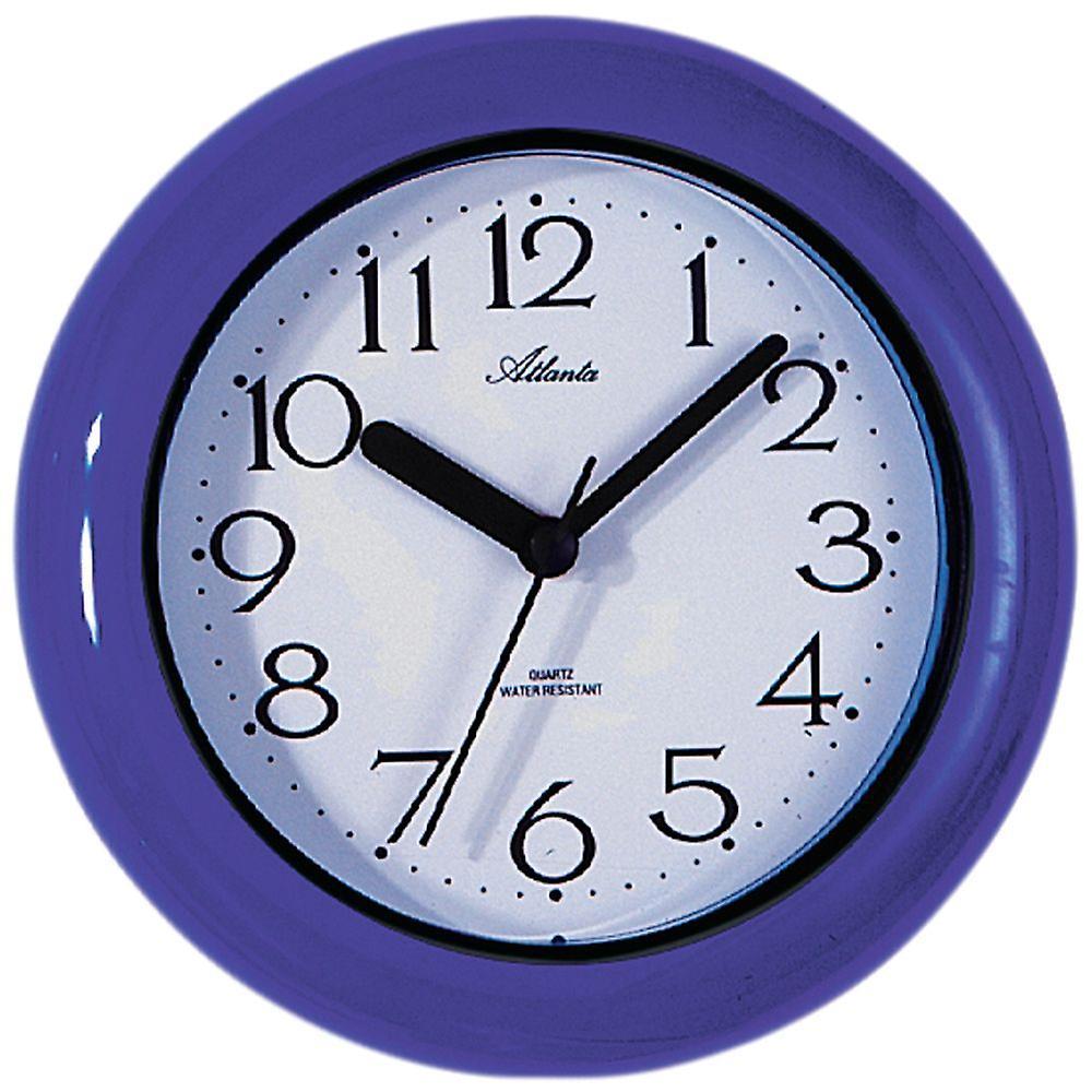 Muur badkamer horloge blauw/paars badkamer klok kwarts ...