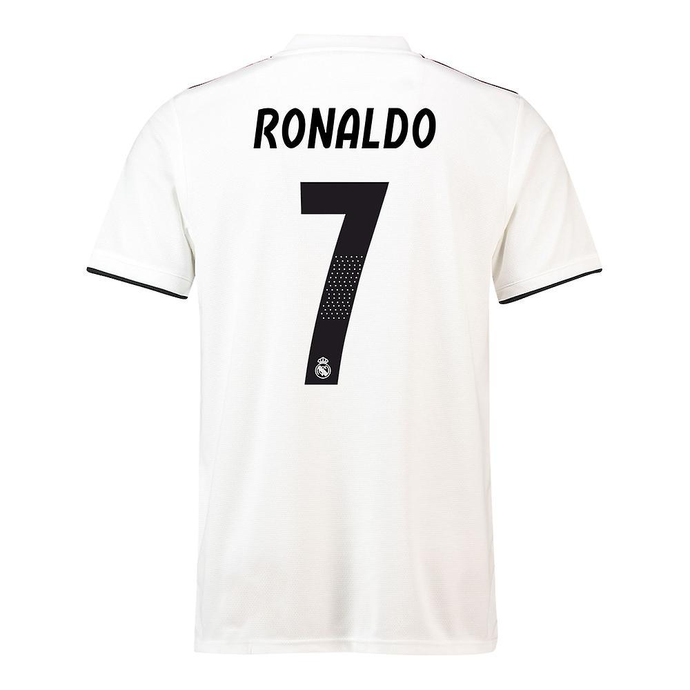online store 5508f 35c83 2018-19 Real Madrid Home Football Shirt (Ronaldo 7) - Kids