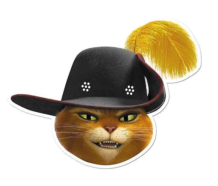 Kot W Butach Z Shrek Pojedynczej Karty Strony Twarzy Maski Fruugo