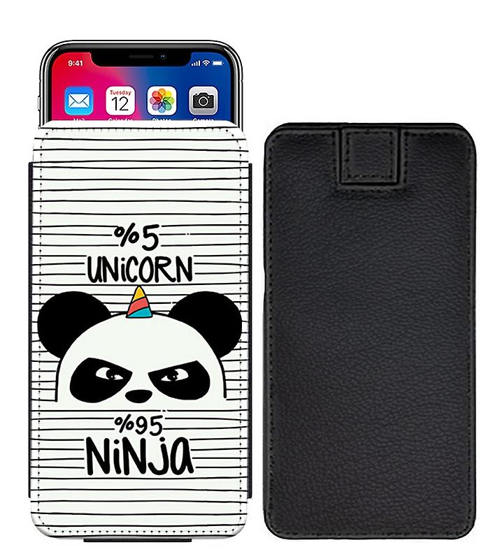 Famous Quotes 5 Unicorn 95 Ninja Custom Designed Printed Pull Tab Pouch Phone Case