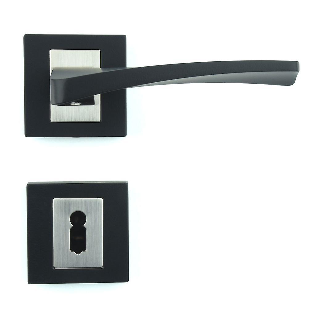 Prime qualité M4TEC ZA3 poignée porte intérieure – faite de Zinc moulé –  finition noire laquée – robuste, Durable & facile à installer – Design ...