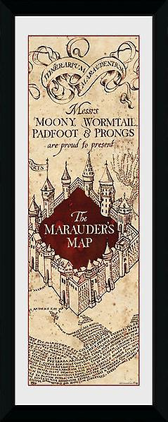 Harry Potter Marauders Map gerahmte Sammler Print