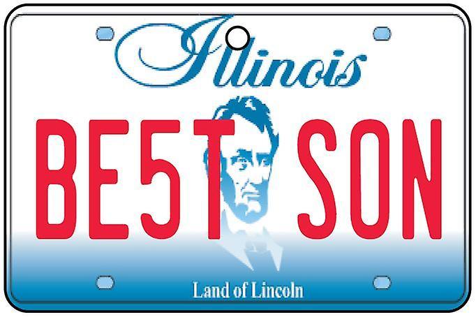 Illinois - Best Son License Plate Car Air Freshener