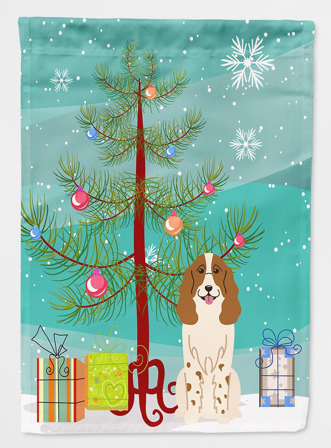 Was Heißt Frohe Weihnachten Auf Russisch.Frohe Weihnachten Russischer Spaniel Flagge Baumgarten Größe
