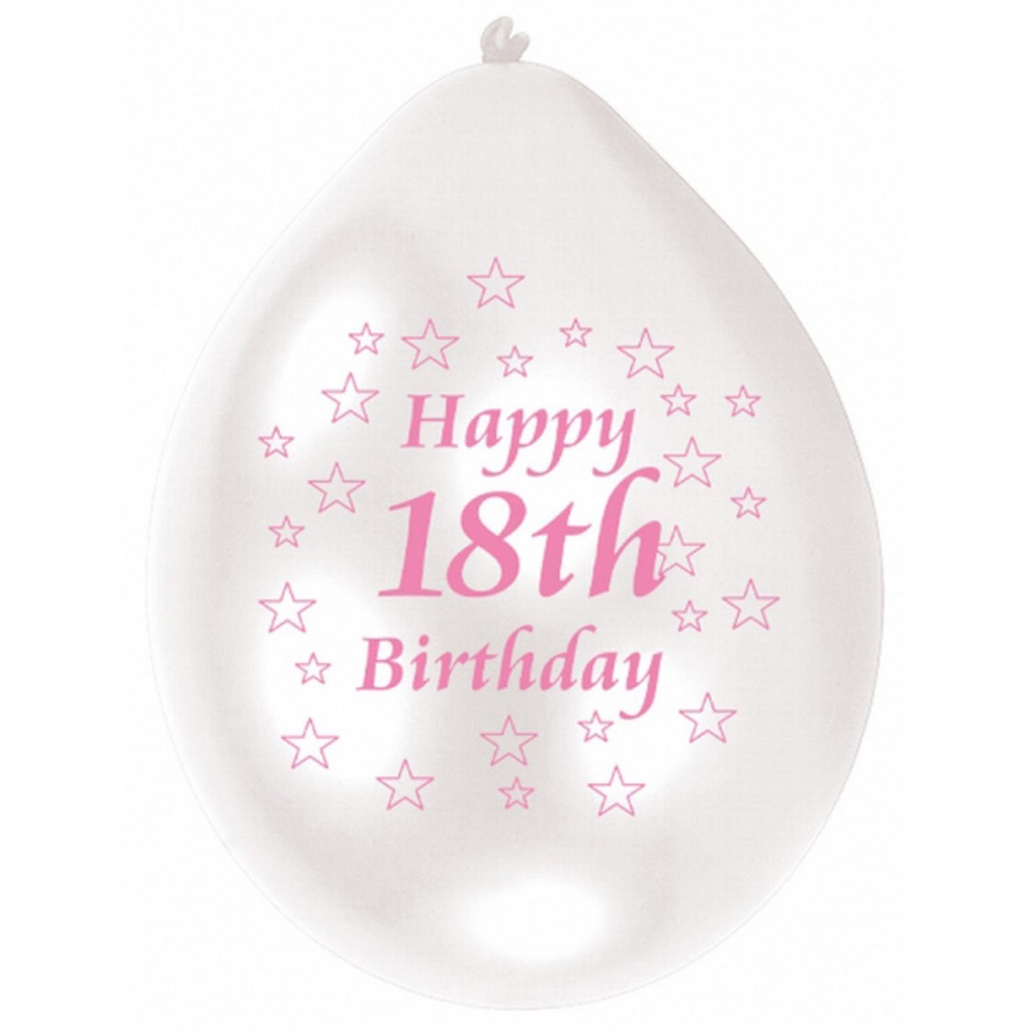 Amscan Two Tone Happy 18th Birthday Party Balloons Pack Of 10