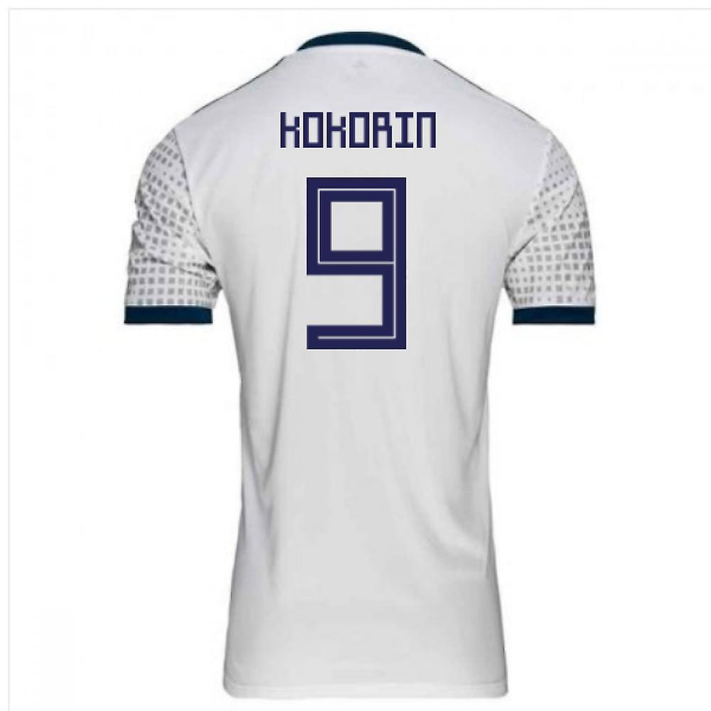 3ce672ffc44 2018-2019 Russia Away Adidas Football Shirt (Kokorin 9) - Kids