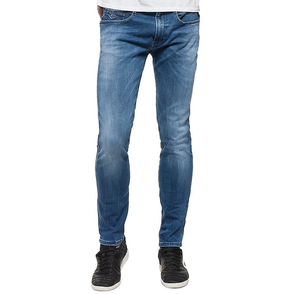 Replay Hyperflex Jeans Slim Fit Barn Lyseblå Denim Klær