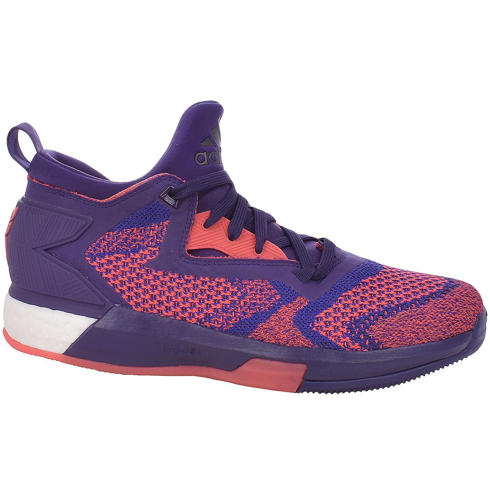 398fade14b7 adidas Performance D Lillard 2 Boost Primeknit Basketball Trainers Shoes  -Purple