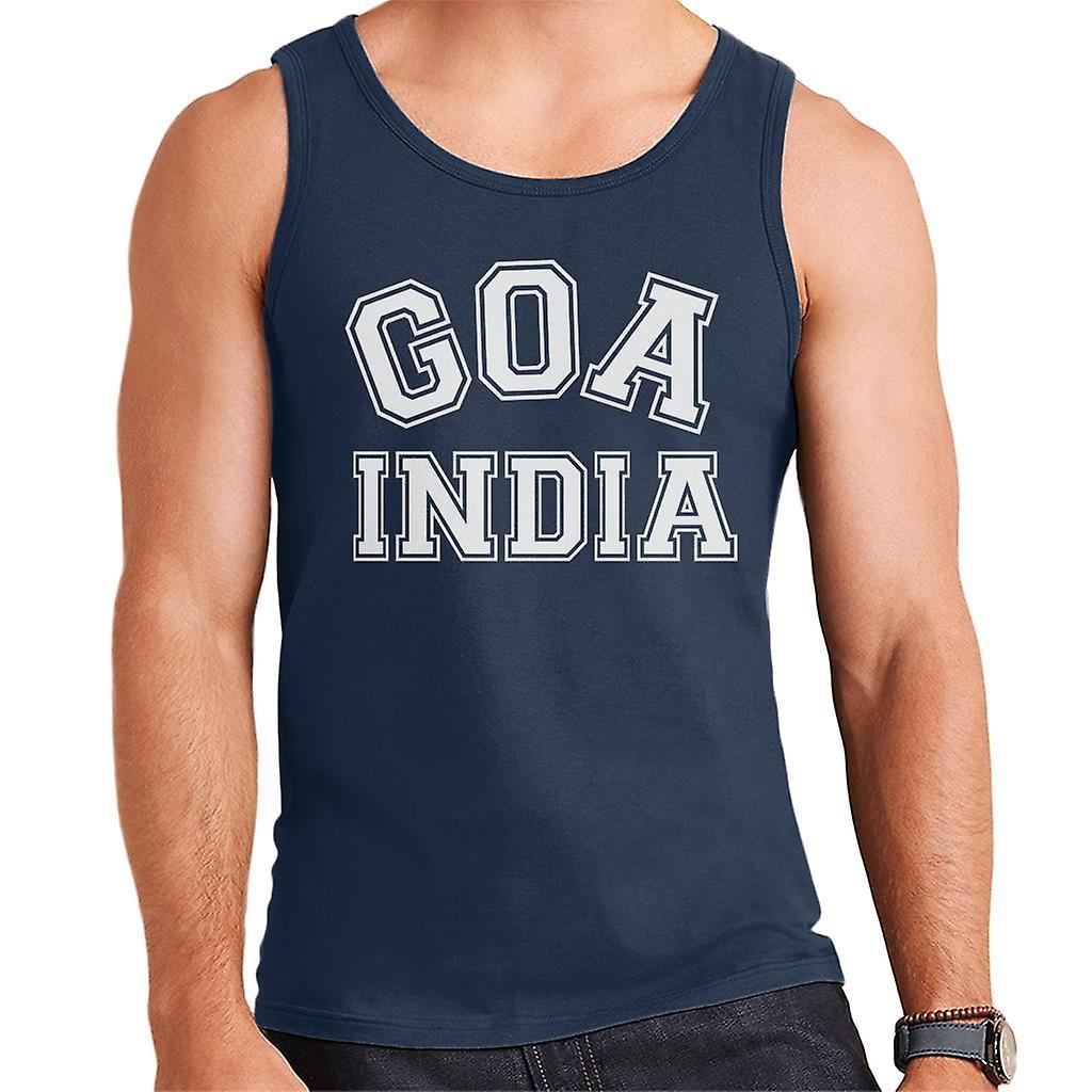Goa India Varsity Style Font Men S Vest Fruugo