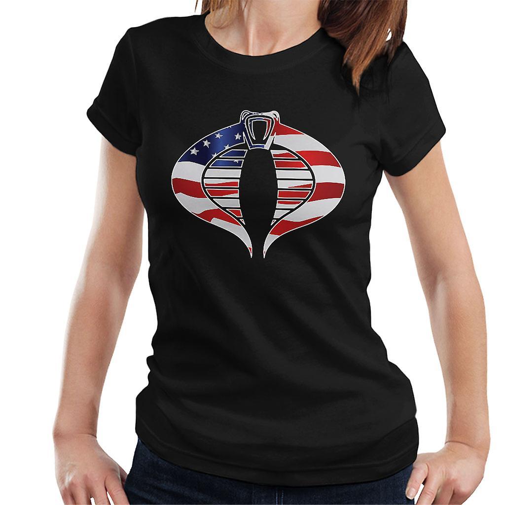 Cobra Star And Stripes Flag GI Joe Women's T-Shirt