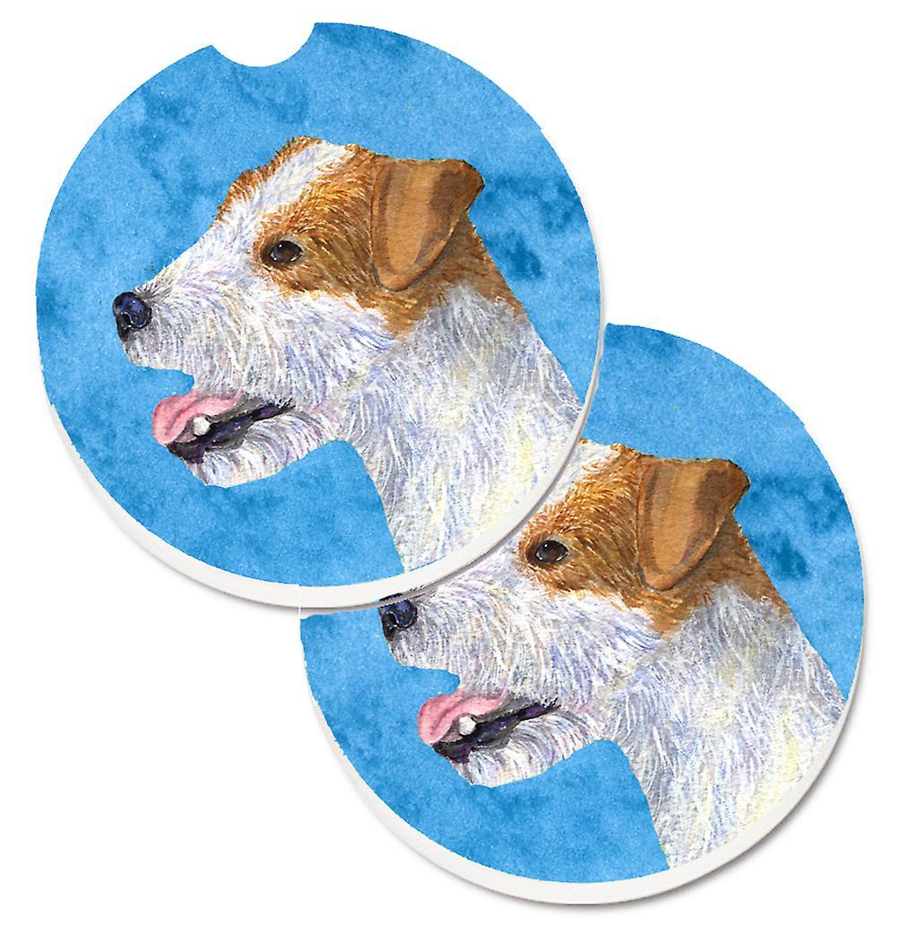 Blue Jack Russell Terrier Set of 2 Cup Holder Car Coasters | Fruugo
