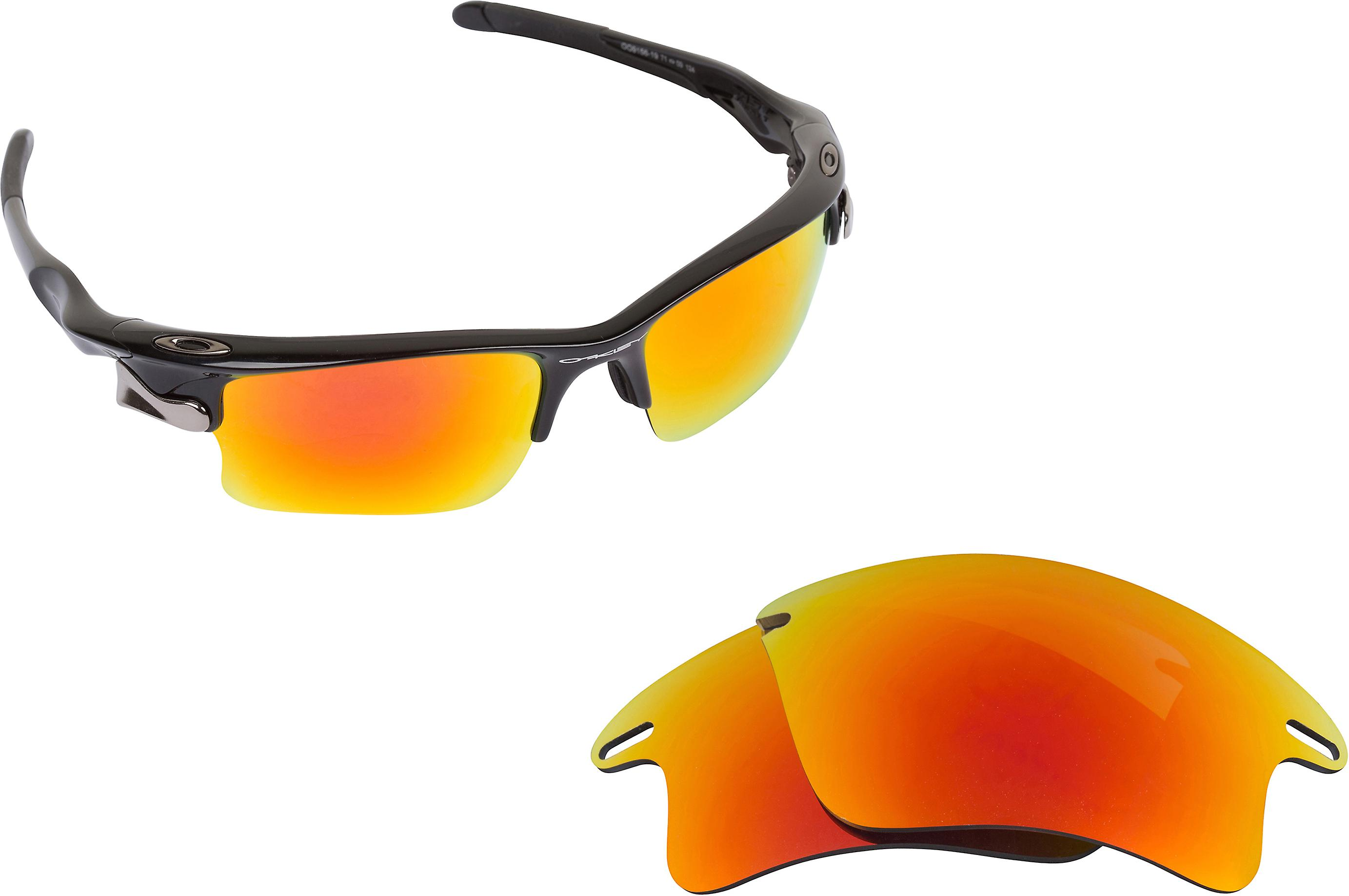 4a212317c74 Fast Jacket XL Replacement Lenses Polarized Yellow Red Silver by SEEK fit  OAKLEY
