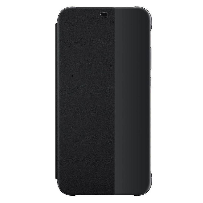 official photos 3ce97 ce4de Original Huawei smart view flip cover black for P20 Lite protective case  cover pouch bag sleeve case