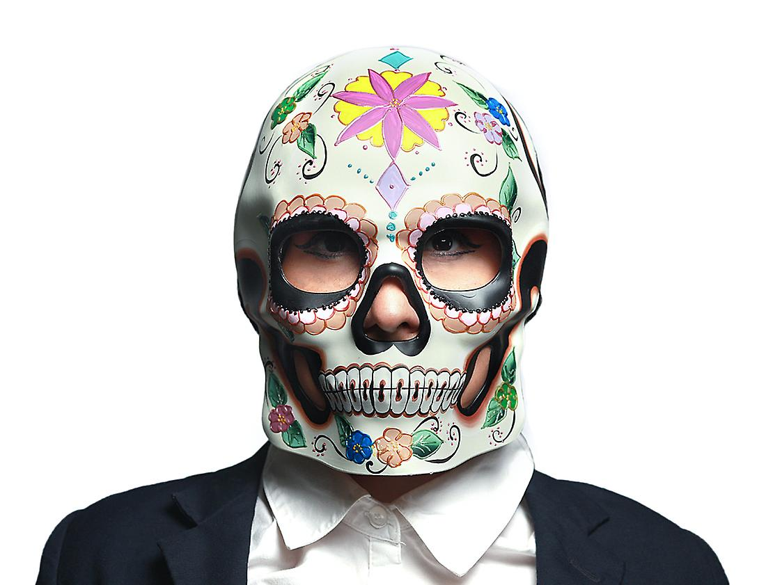 f24ce3c7bf3e Colorful Floral Design Day of the Dead Sugar Skull Mask / Wall Hanging