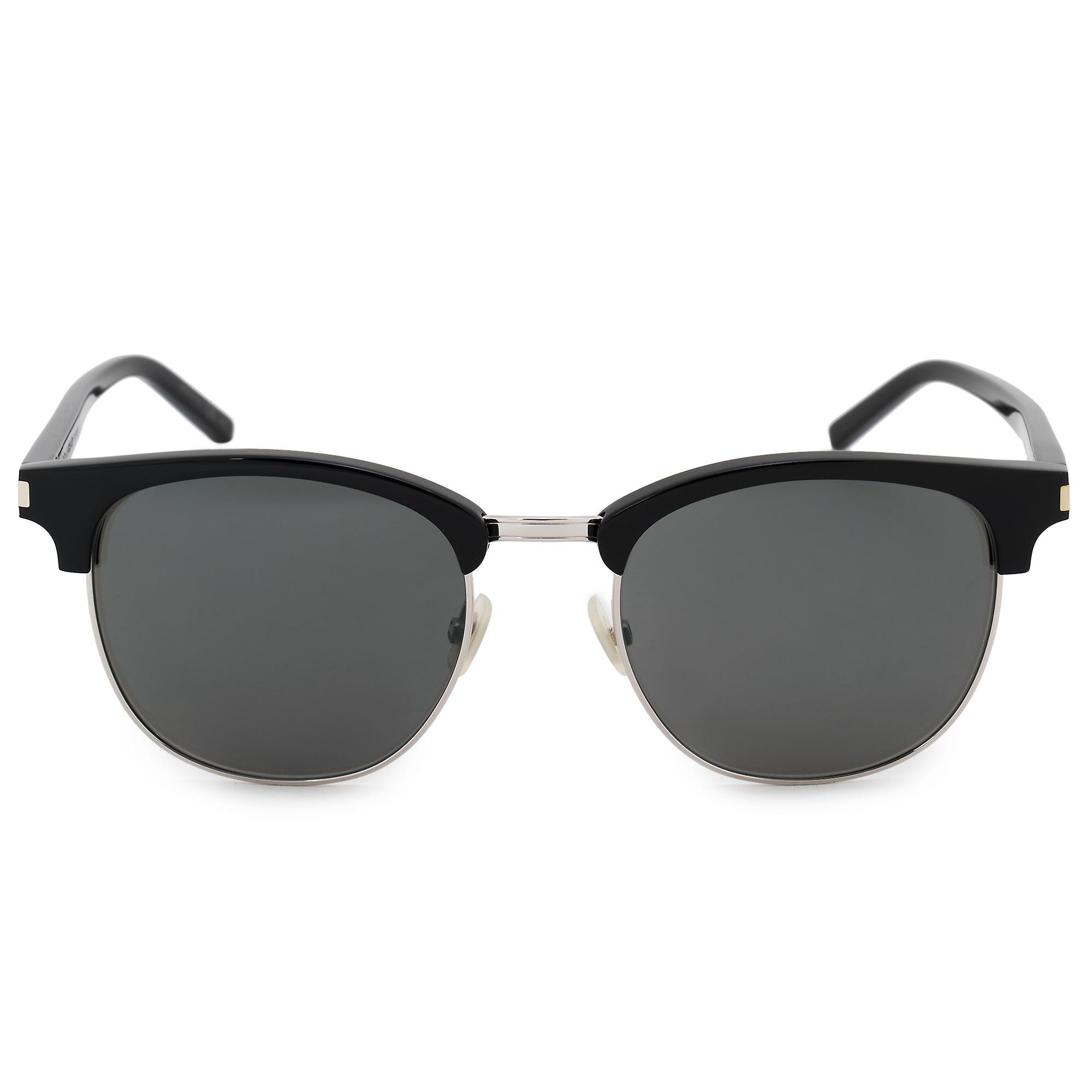 große Auswahl an Farben Online kaufen letzte Auswahl Saint Laurent halb randlose Sonnenbrille SL108 001 52