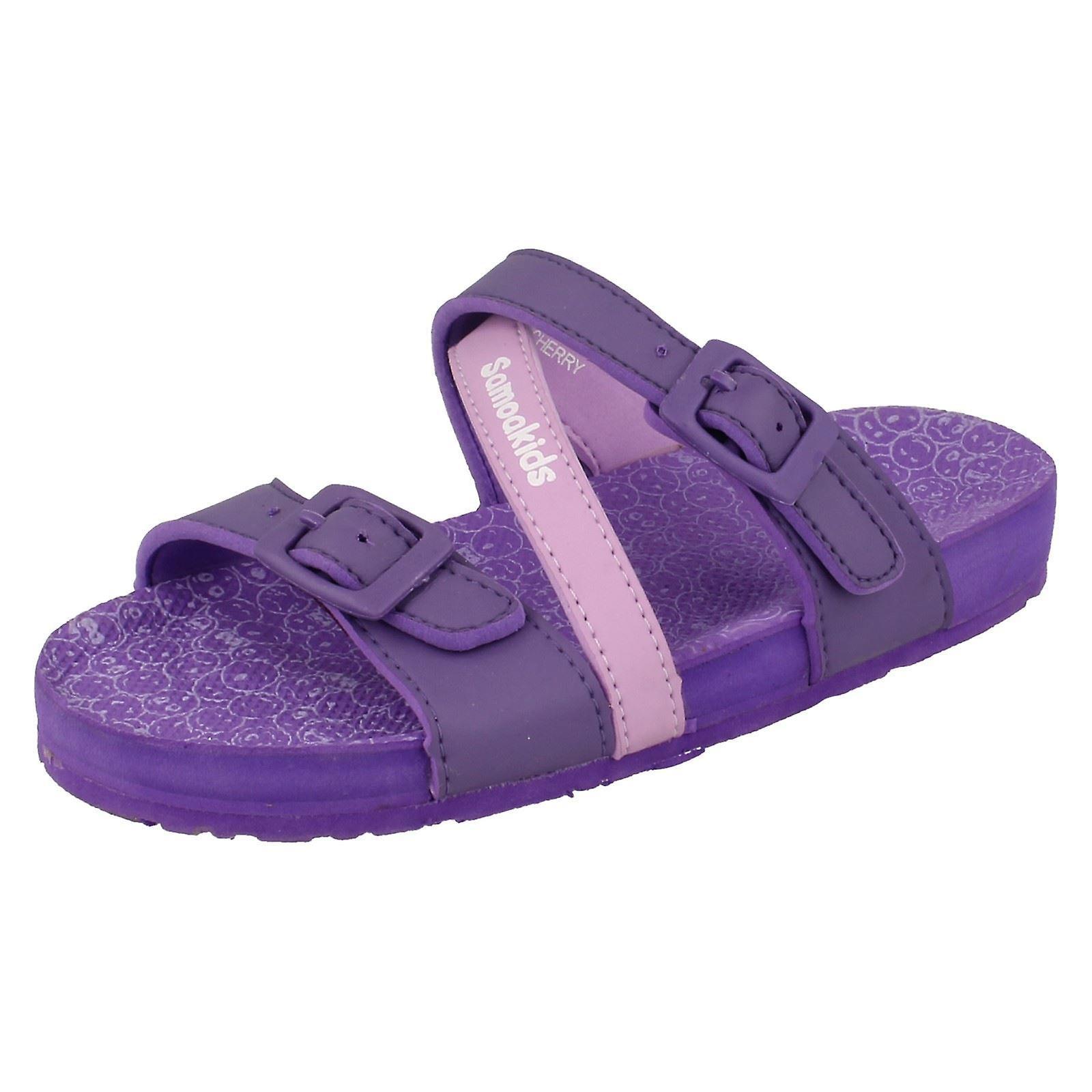 Girls Samoa Flat Buckle Mule /'Sandal/'