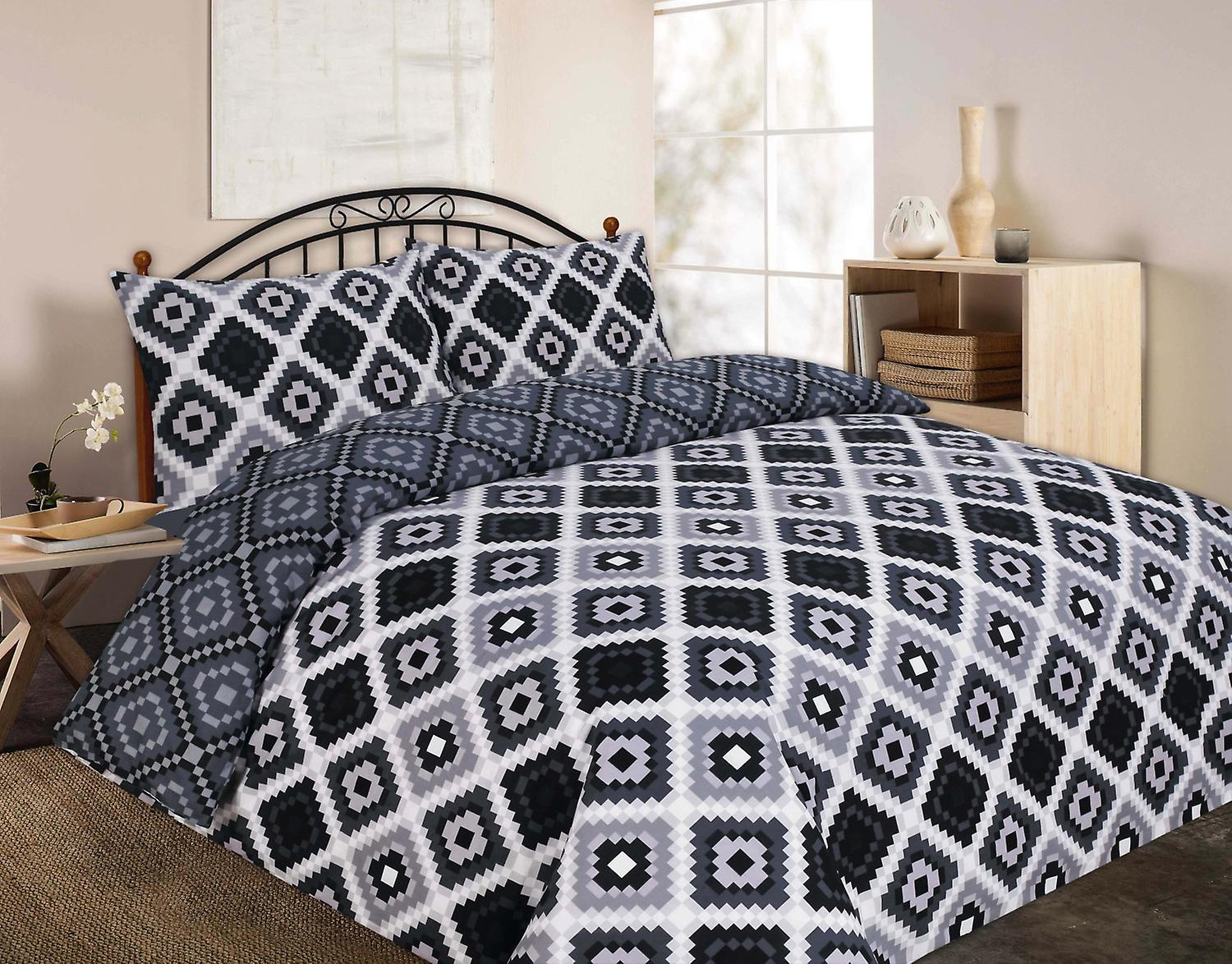 Theo Triangle Printed Duvet Quilt Cover Bedding Set