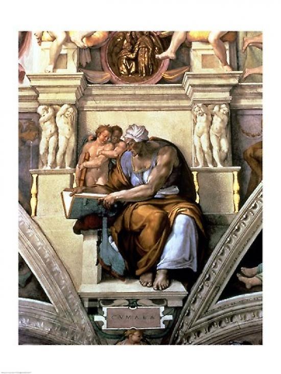 Sistine Chapel Ceiling Cumaean Sibyl 1510 Poster Print By Michelangelo Buonarroti