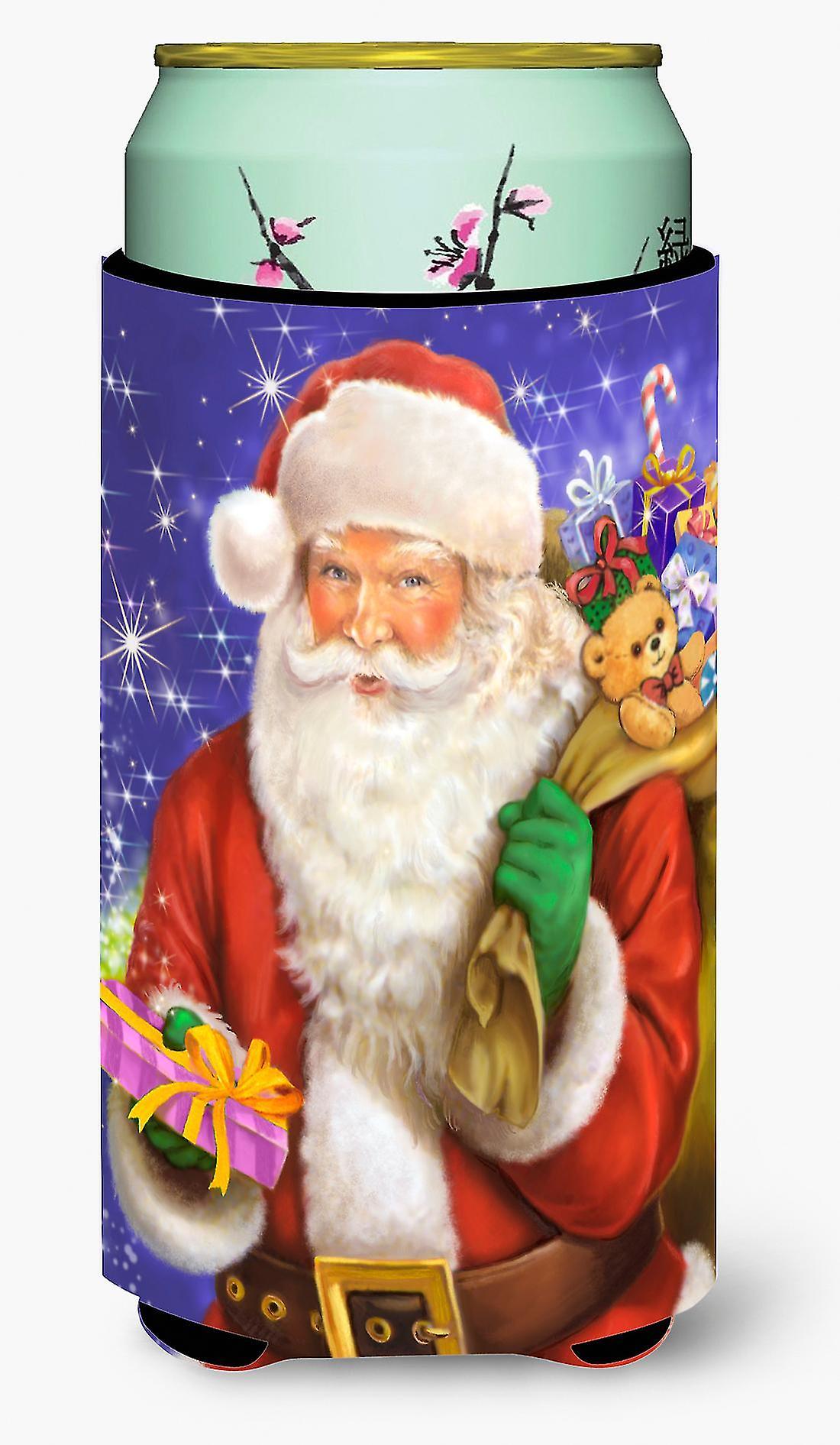 Weihnachten Santa Claus bereit, Arbeit großer Junge Getränk Isolator ...