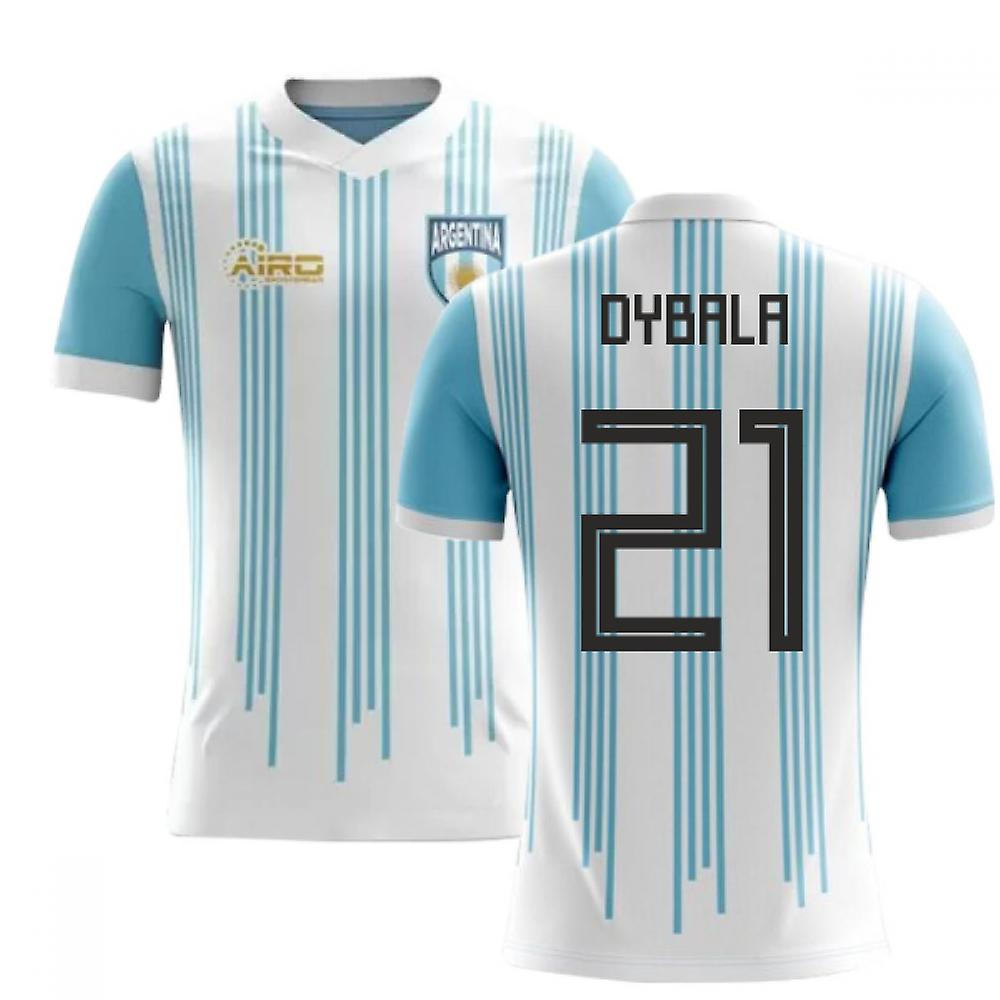 sale retailer edf3b 06df6 2018-2019 Argentina Home Concept Football Shirt (Dybala 21)