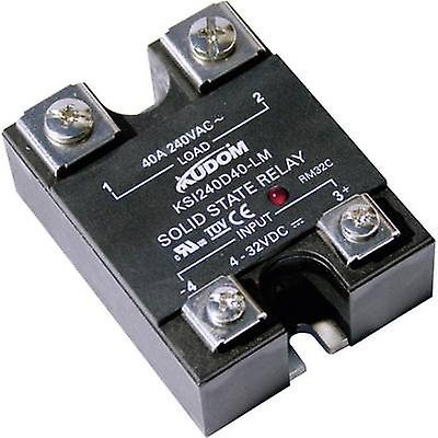 Kudom SSR 1 pc(s) KSI240 D25 LM Current load (max ): 25 A Switching voltage  (max ): 240 V AC Zero crossing