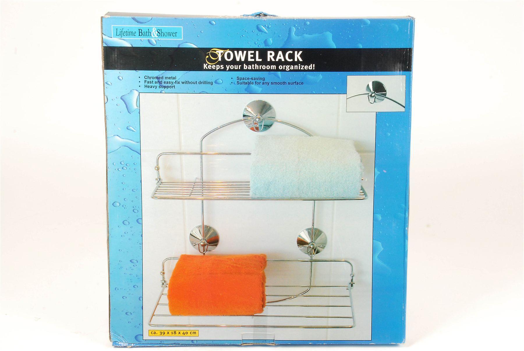 Handdoekrek Voor Badkamer : Verchroomde metalen handdoekrek voor badkamer zware