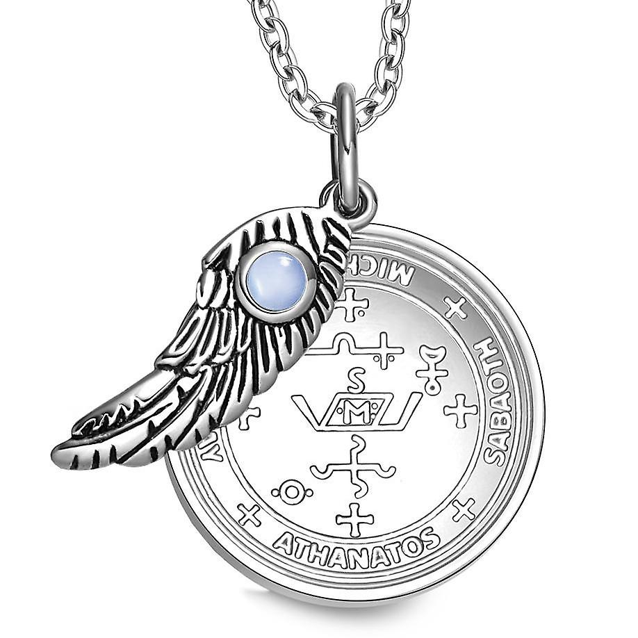 Archangel Michael Sigil Magic Wing Amulet