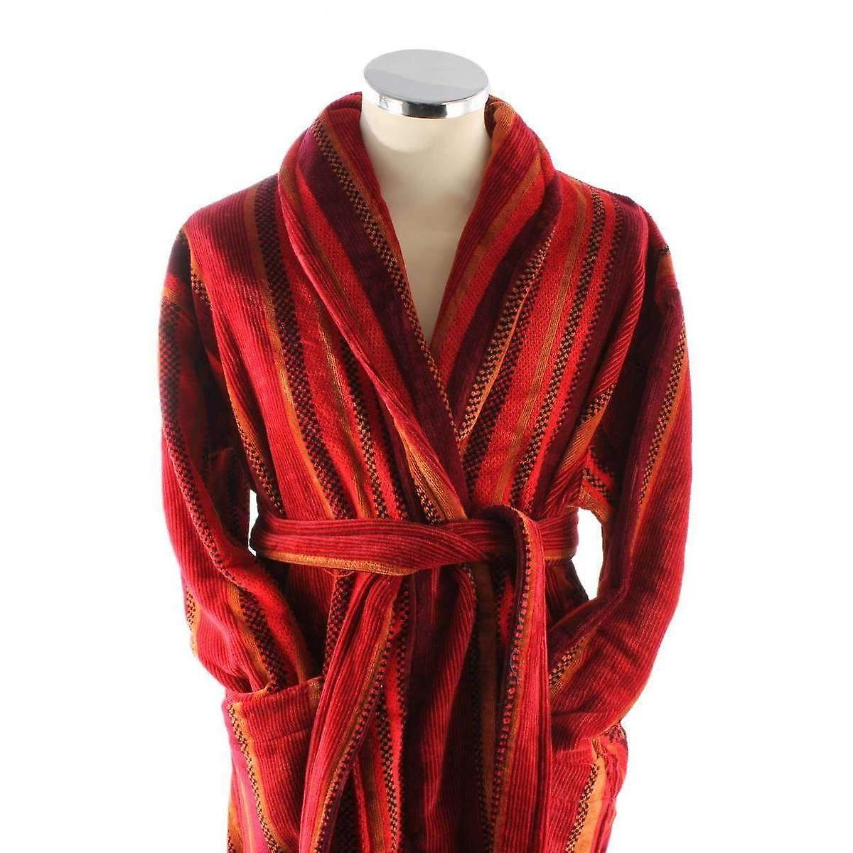 Bown of London Venezia Egyptian Cotton Velour Dressing Gown - Red ...