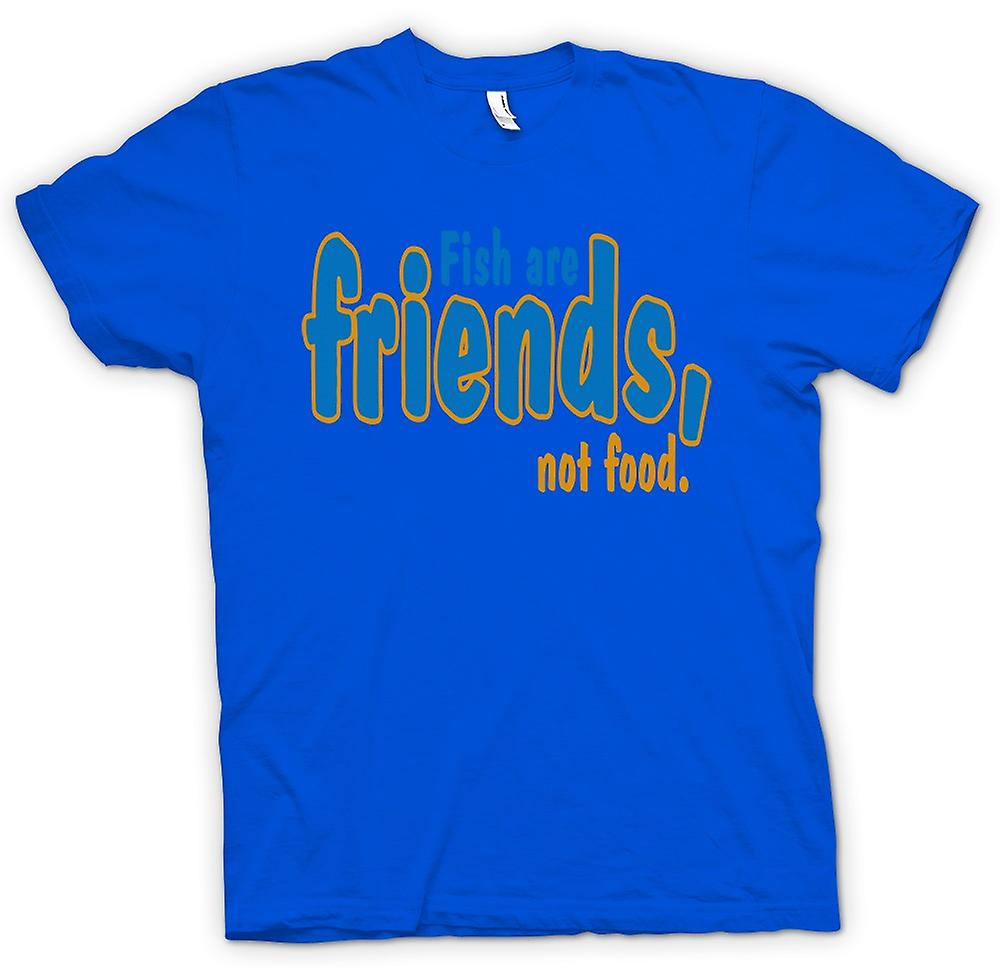 Womens T Shirt Fish Are Friends Not Food Funny Quote Fruugo