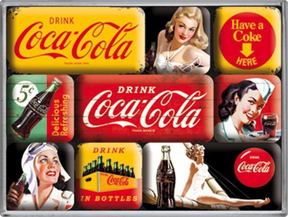 Mini Kühlschrank Cola : Coca cola gelb set mini kühlschrank magnete in box fruugo