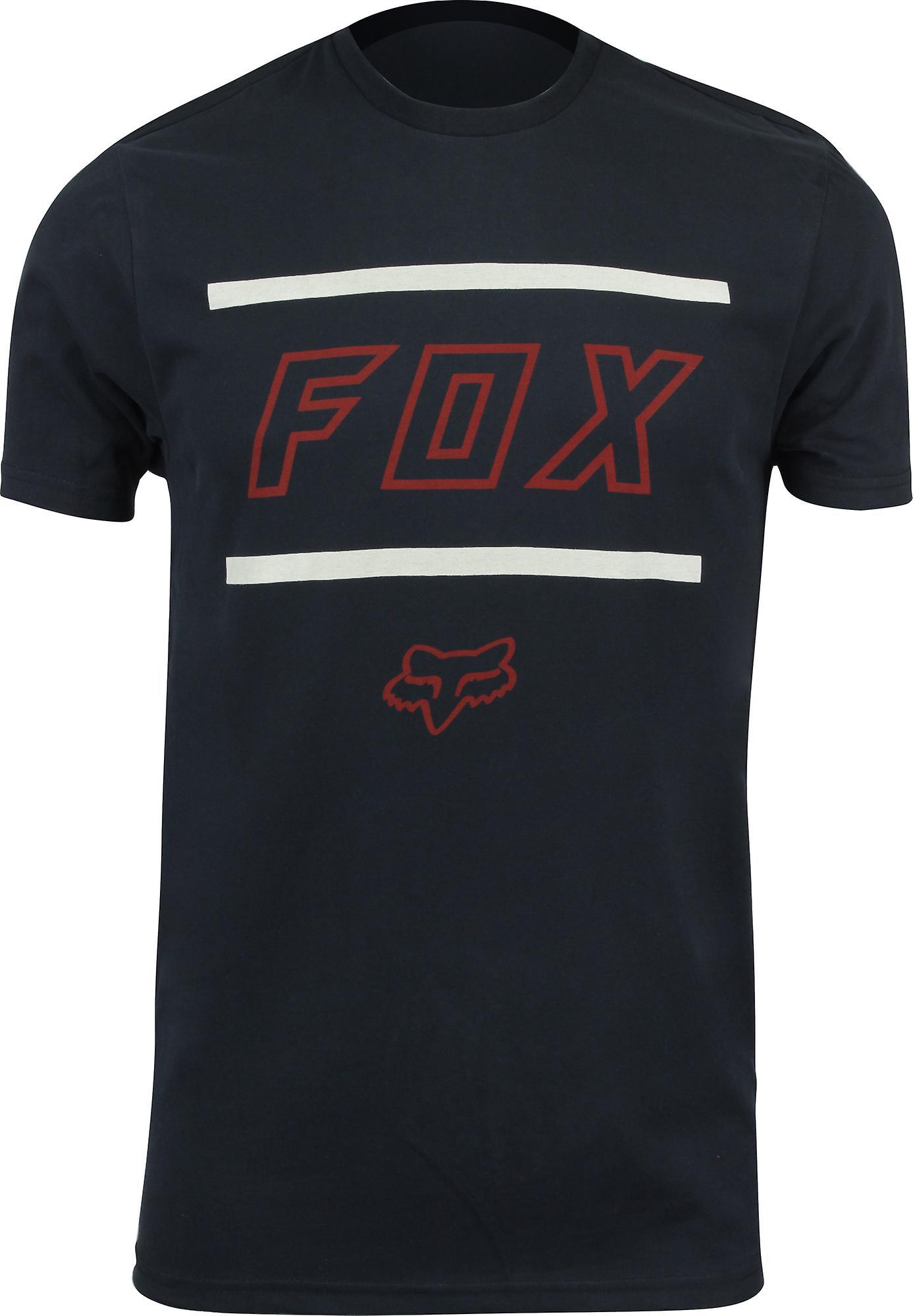 FOX RACING MENS BLACK LOGO T SHIRT