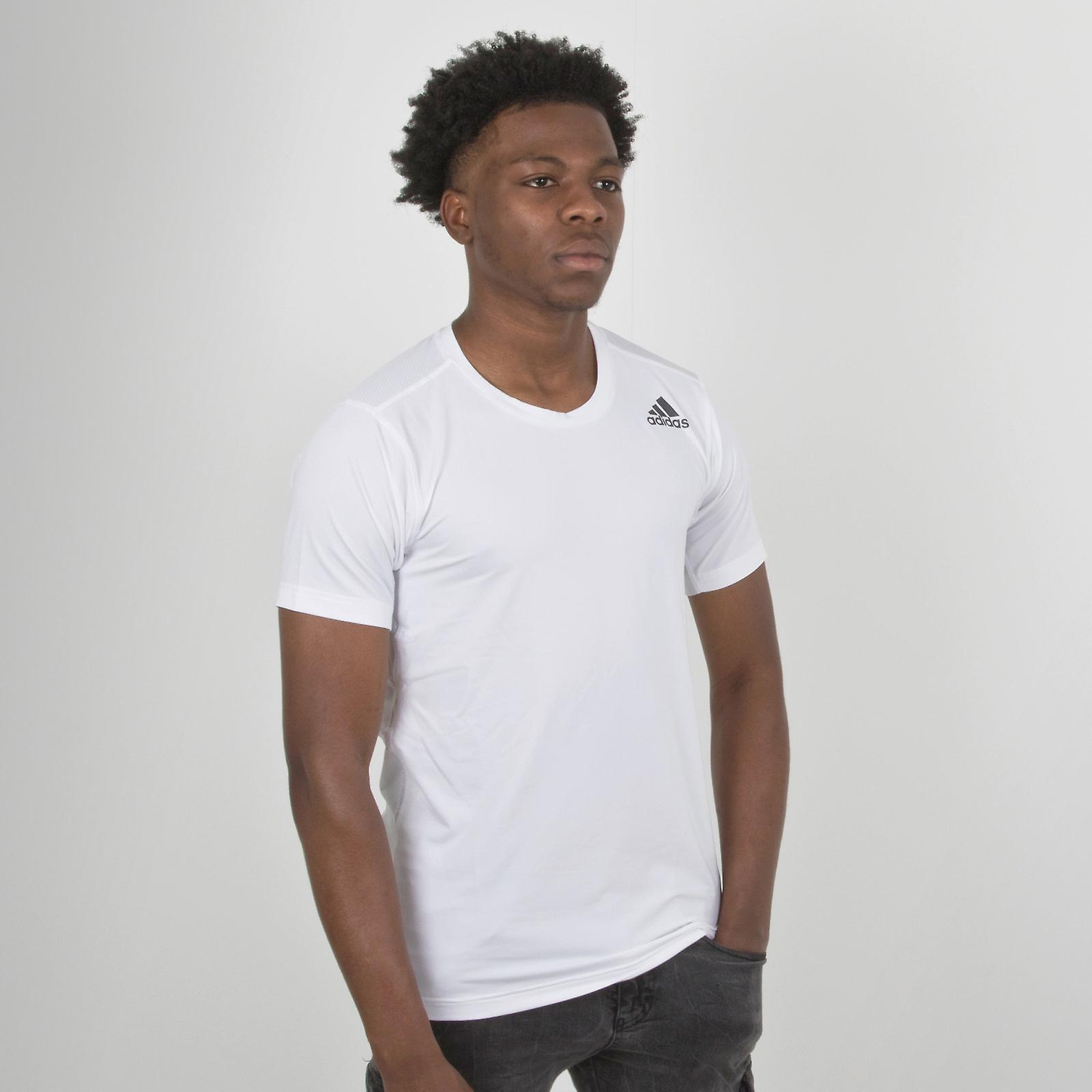 Buy Adidas Football Red Round Neck T Shirt for Men Online