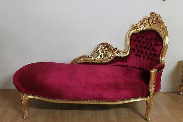 Recamiere chaiselongue  baroque recamiere chaiselongue antique style AlSo0316GoRtvelour ...