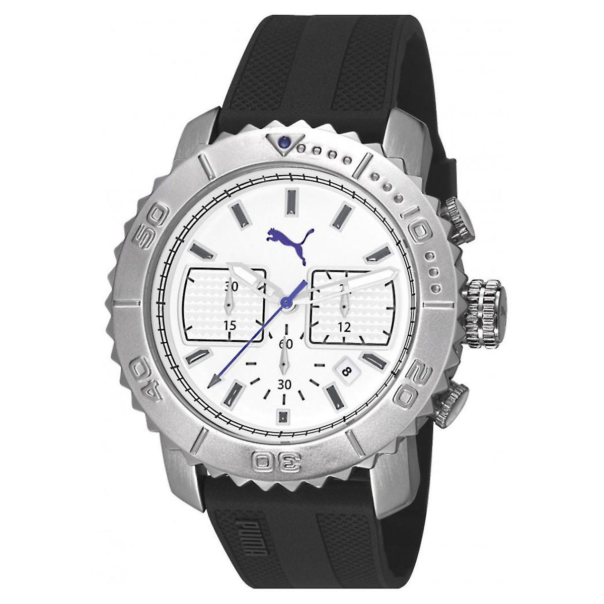 save off 04d2c 7603c プーマ腕時計時計メンズ腕時計クロノ勇敢なシリコーン PU103561002 手首
