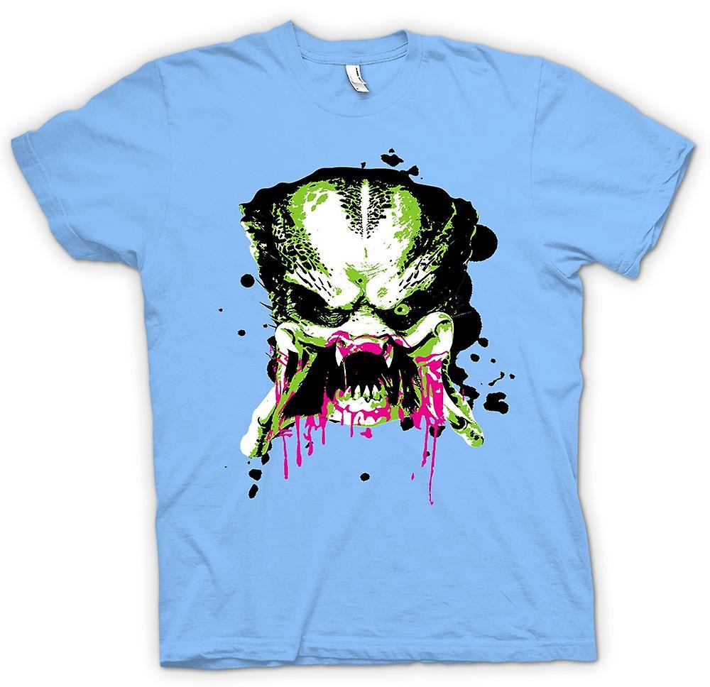 52f94a55 Mens T-shirt - Predator Alien - Pop Art - Face - Movie | Fruugo