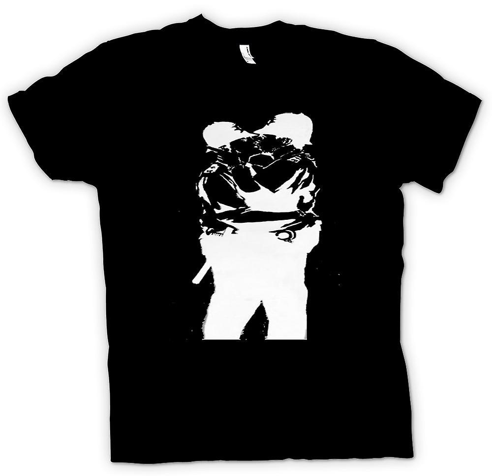 Kids T shirt Banksy Graffiti kunst Gay politie