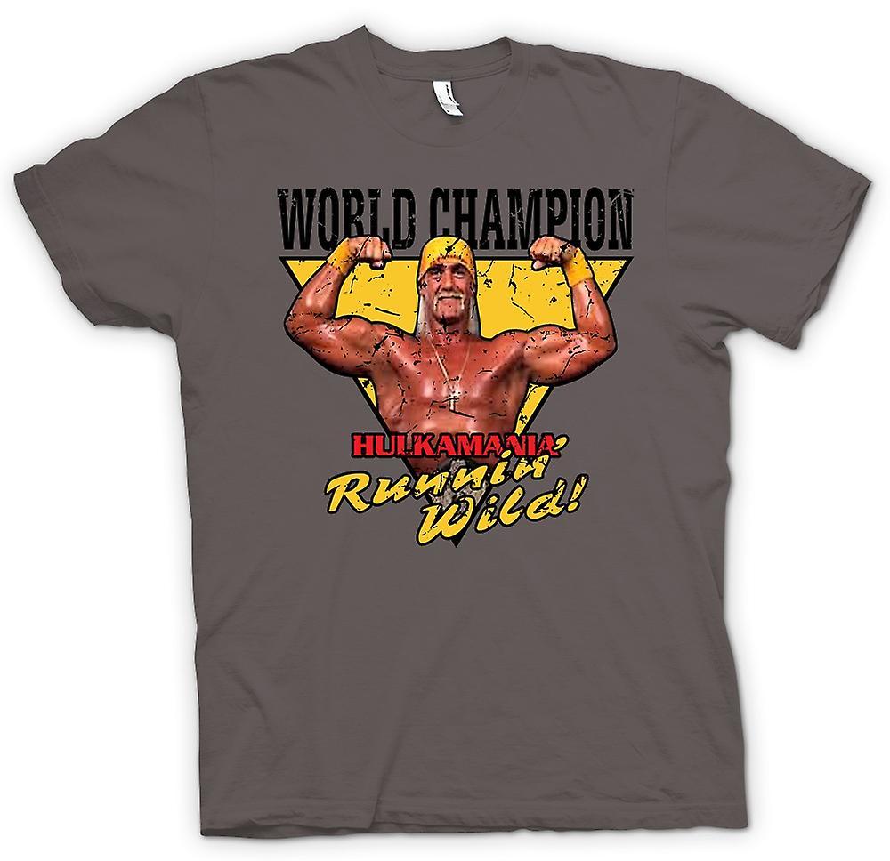 Womens t shirt world champion hulk mania running wild for Hulk fishing shirts