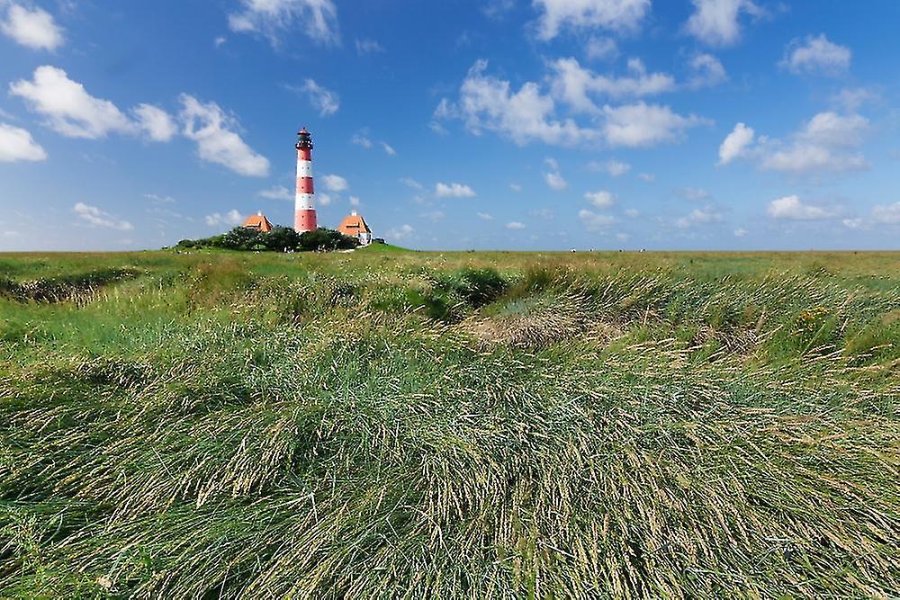 Lighthouse In A Farm Westerheversand Lighthouse Westerhever