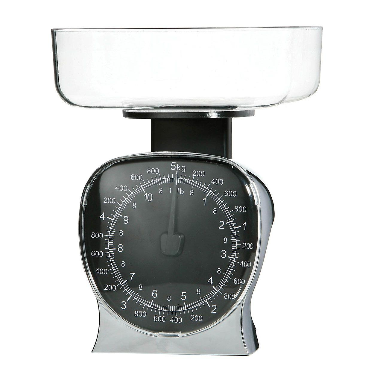 Kitchen Scale Chrome Effect/ Clear Bowl For Baking Cooking Max. 5kg ...
