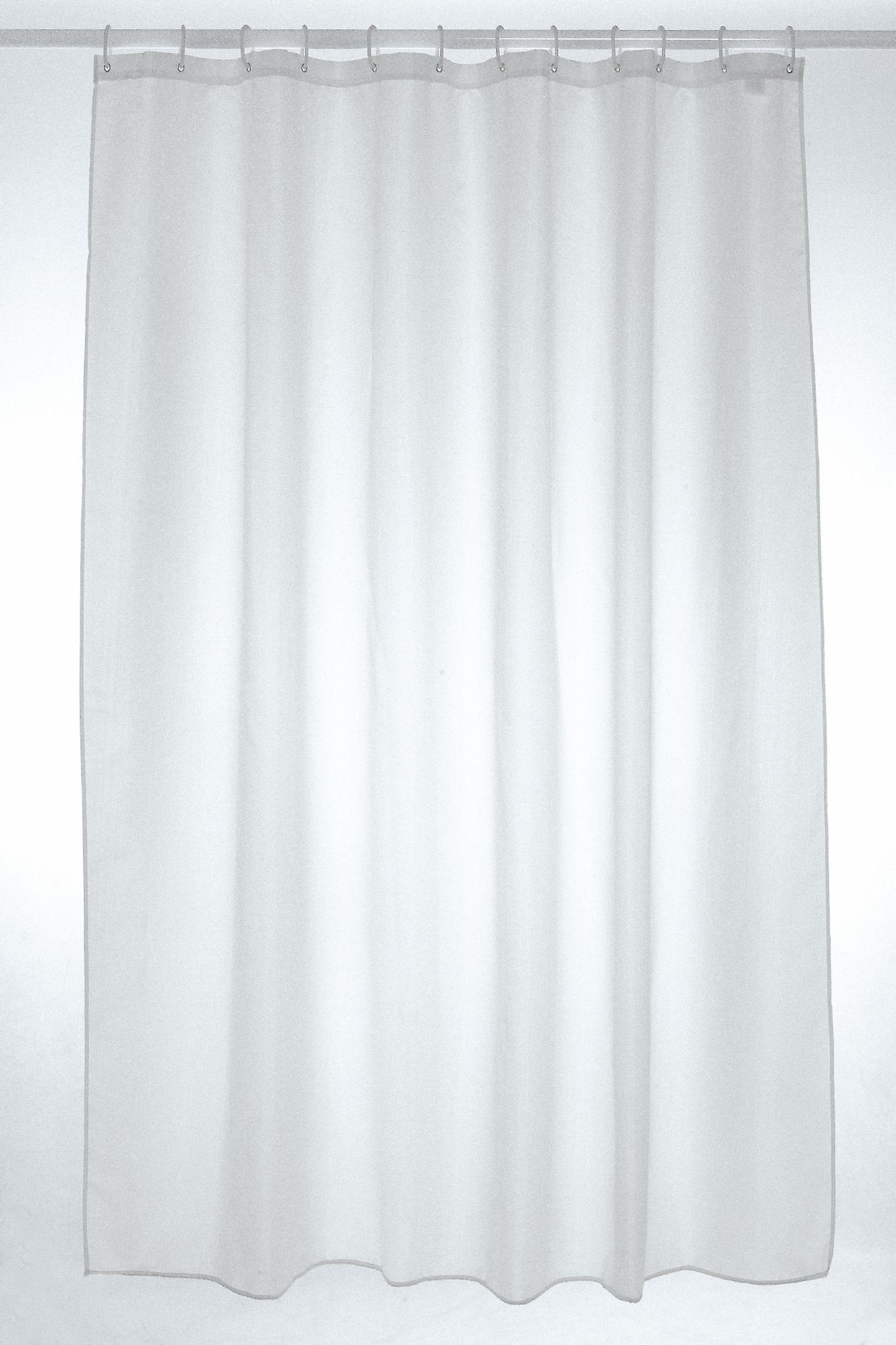 White Plain Polyester Shower Curtain 180 x 220cm | Fruugo
