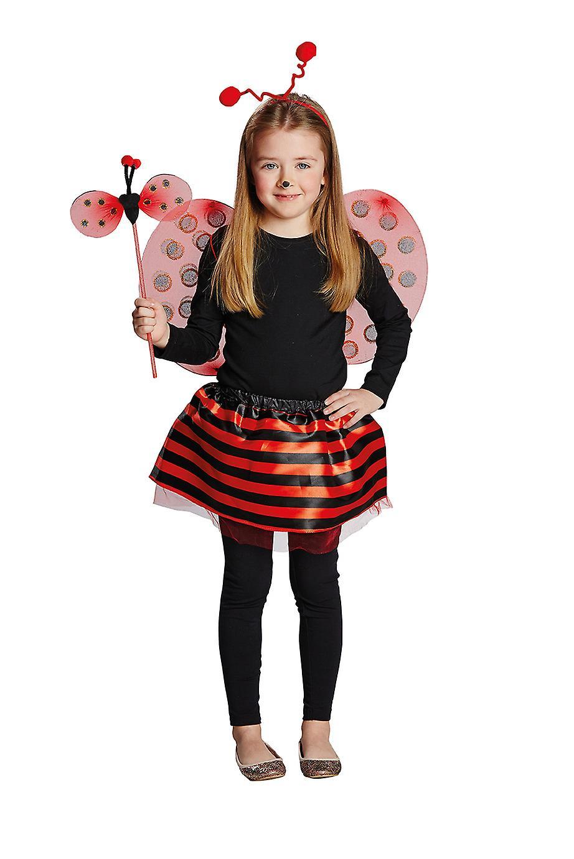d2fead16 Ladybird sett barn Deluxe 4pcs hodebånd vinger rock bar barn kostyme  Carnival