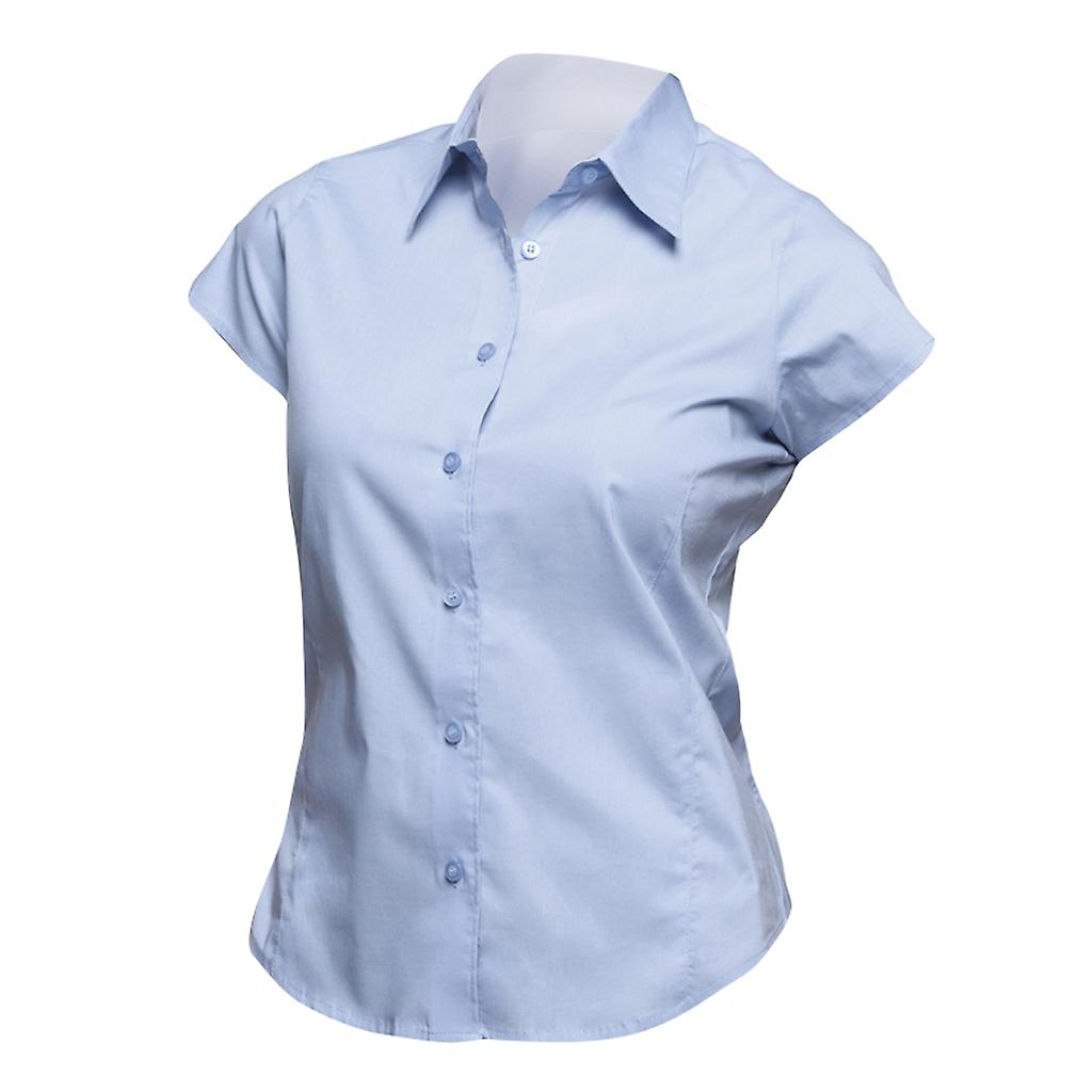 403abafc5fe SOLS Womens Ladies Excess Short Sleeve Fitted Work Shirt