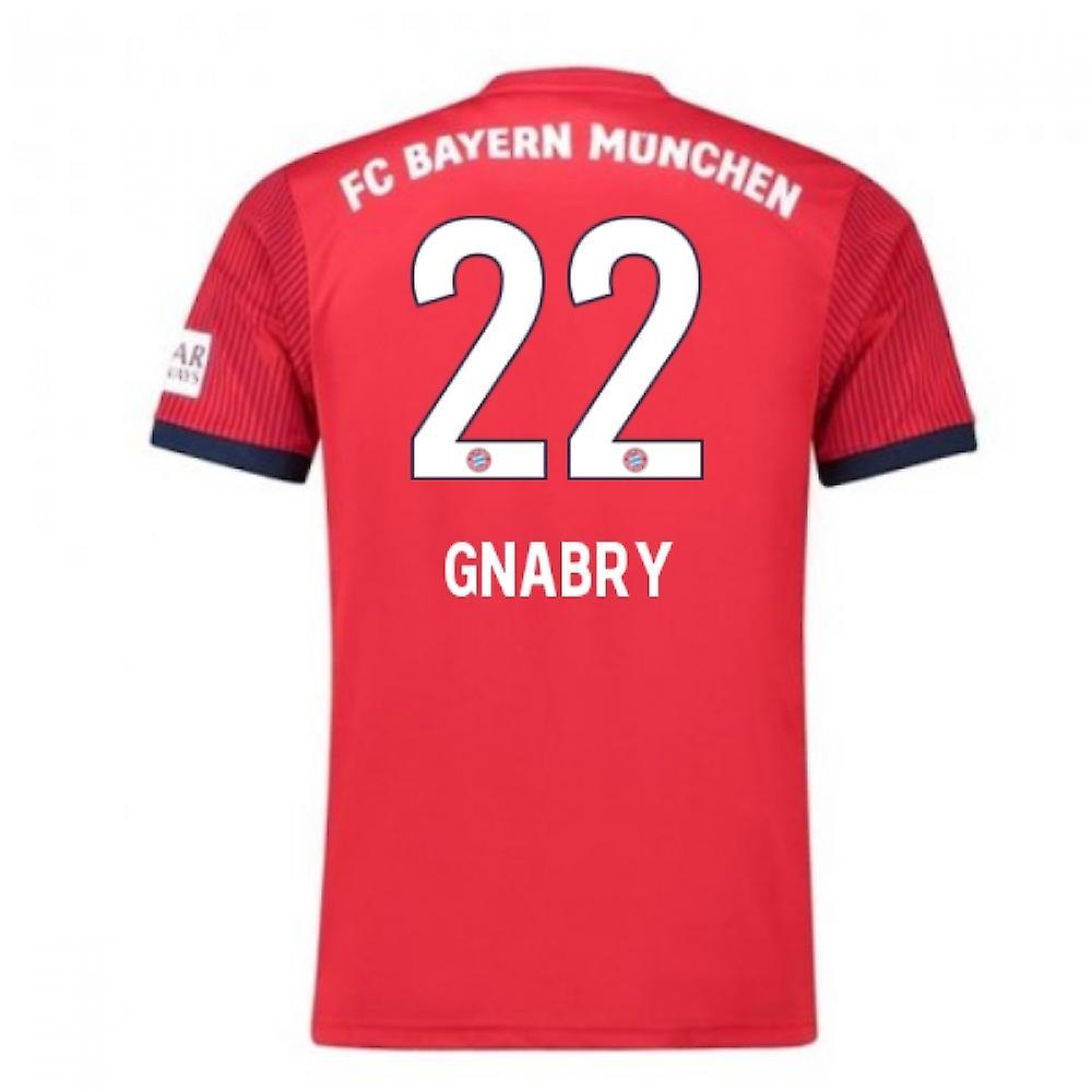 2018 2019 Bayern München Adidas hem fotbolls tröja (Gnabry 22) barn