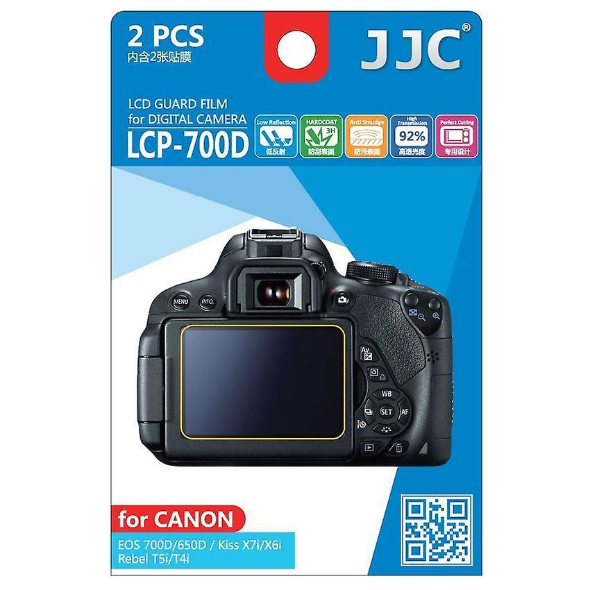 Jjc Guard Film Crystal Clear Screen Protector For Canon Eos 650d 700d Rebel T4i T5i No Cutting 2 Film Pack