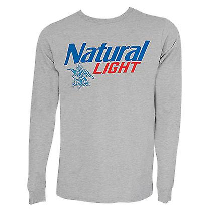 63291896 Natural Light Logo Long Sleeve Grey Tee Shirt | Fruugo
