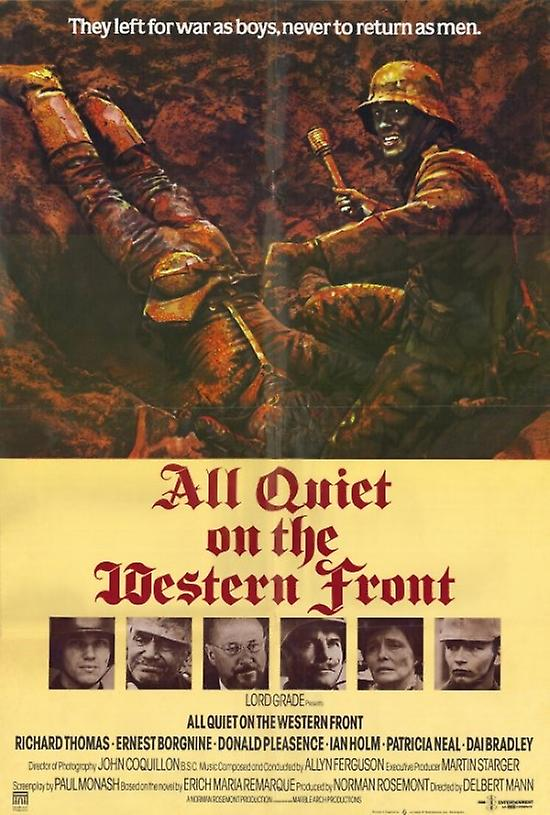 compare the book to the movie all quiet on a western front