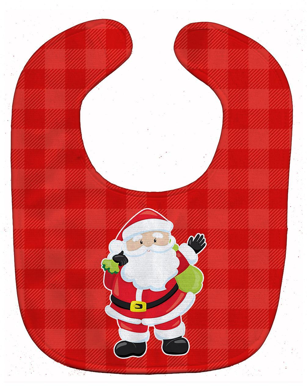 Carolines Schätze BB9017BIB Weihnachten Weihnachtsmann Baby Lätzchen ...