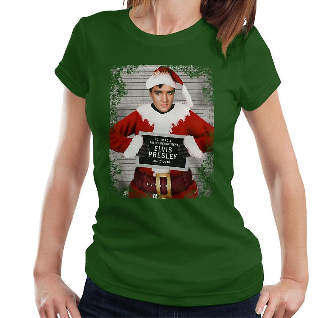 825e2d5f5 Christmas Mugshot Elvis Presley Women's T-Shirt | Fruugo